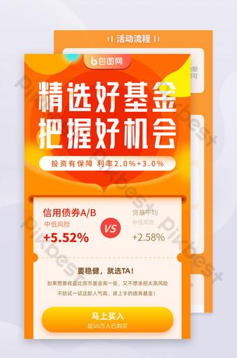 Orange Financial Fund Finance Stock Bond H5 Informations Long Carte UI Modèle AI