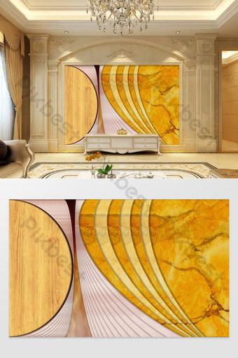 Mur d'arrière-plan d'épissage géométrique abstrait de luxe Décoration et modèle Modèle PSD