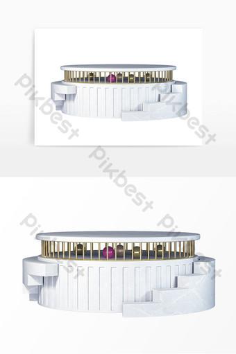 Personal E Commerce Poster Affichage du produit Stéréo en marbre C4D Éléments graphiques Modèle
