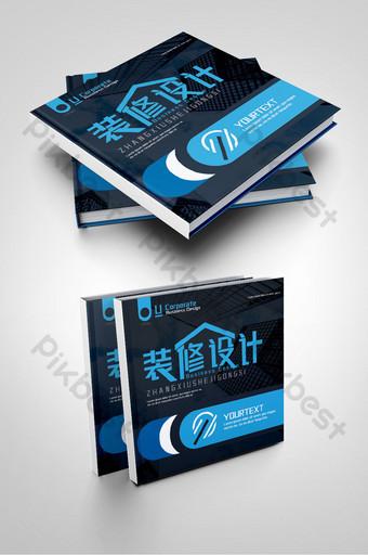 أزياء زرقاء شركة الديكور الإبداعي تصميم داخلي غلاف كتيب تحسين المنزل قالب PSD