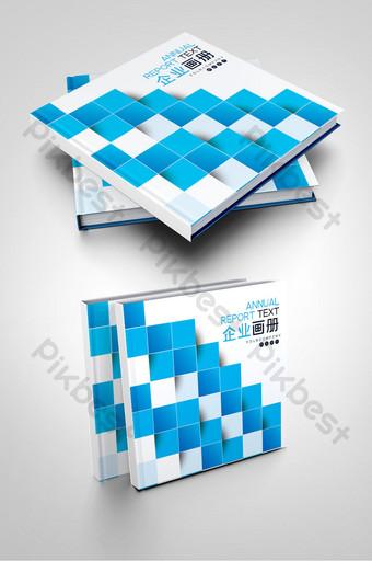 الأزرق الديكور تحسين المنزل الداخلية تصميم غلاف كتيب الطلاء قالب AI