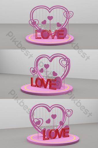 520 día de san valentín amor confesión en forma de corazón diseño de modelo meichen Decoración y modelo Modelo MAX