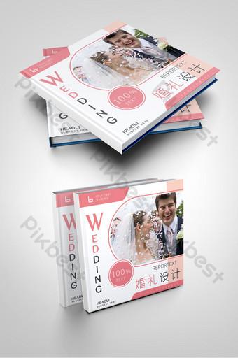 الوردي الطازج تصميم غلاف كتيب الشركة تخطيط الزفاف قالب AI
