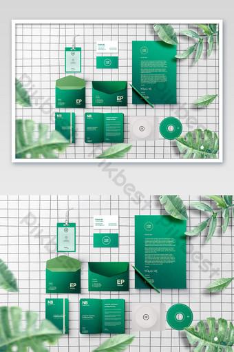 نبات أخضر ورقة خضراء أبيض وأسود شعرية سطح المكتب الطازجة المشاريع الحديثة السادس بالحجم الطبيعي قالب PSD