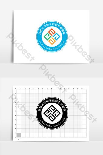 logo lencana profesional informasi elektronik universitas Templat AI