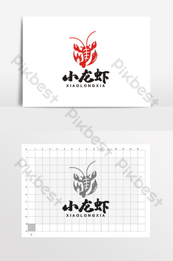 Crayfish Spicy Seafood Lobster Restaurant LOGO VI Template CDR