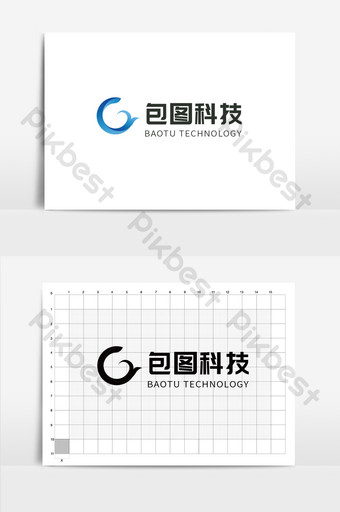 Logo Teknologi Suasana Biru Informasi Tanda Bisnis Logo Templat AI
