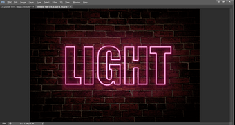 Photoshop Tutorial | How to make the Neon Lights font effect