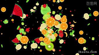 2 nhóm video trang trí nền hoa quả nhiều màu sắc với kênh Video Bản mẫu MOV