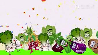 Video nền hoạt hình lễ hội rau củ quả Video Bản mẫu AEP