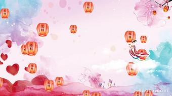 수채화 중국 스타일 중추절 동적 배경 AE 템플릿 비디오 템플릿 AEP