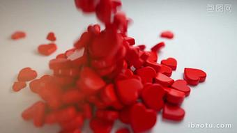 3 차원 동적 심장 모양의 발렌타인 데이 제목 AE 템플릿 동영상 템플릿 AEP