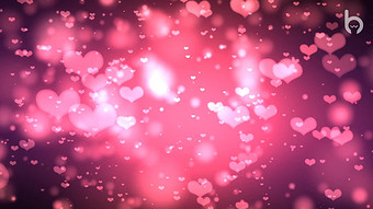 로맨틱 웨딩 핑크 하트 비행 LED 배경 비디오 동영상 템플릿 MP4