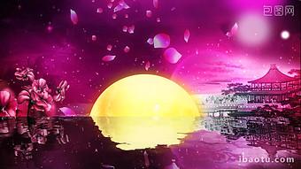 달 꽃잎 아름다운 중추절 비디오 비디오 템플릿 MP4
