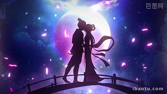 美しいロマンチックなカササギの橋が七夕愛テーマループビデオを満たす 動画 テンプレート MP4