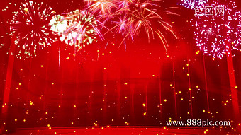 Fireworks festive party LED background Video Template MP4
