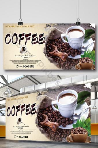 Tabellone per caffè poster modello caffè Sagoma PSD