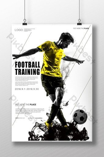modelo de pôster de venda de esporte de futebol Modelo PSD