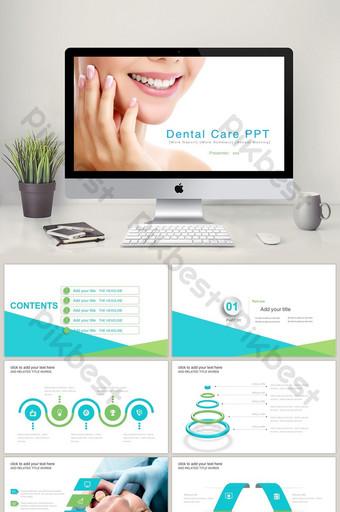 Cavité dentaire stomatologique hôpital clinique dentiste PPT PowerPoint Modèle PPTX