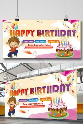 painel de download de cartaz de feliz aniversário Modelo PSD