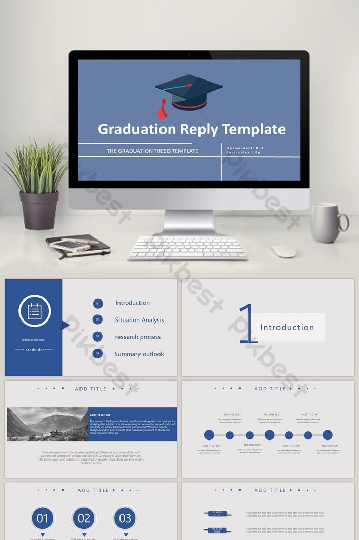 Graduation Thesis Defense Template PPT | PowerPoint PPTX Free Download -  Pikbest