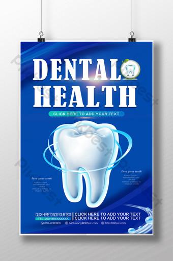 Bệnh viện nha khoa làm đẹp poster quảng cáo sức khỏe răng miệng Bản mẫu PSD