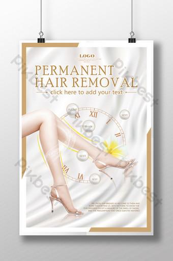 poster quảng cáo tẩy lông điểm đông lạnh phẫu thuật thẩmỹ Bản mẫu PSD