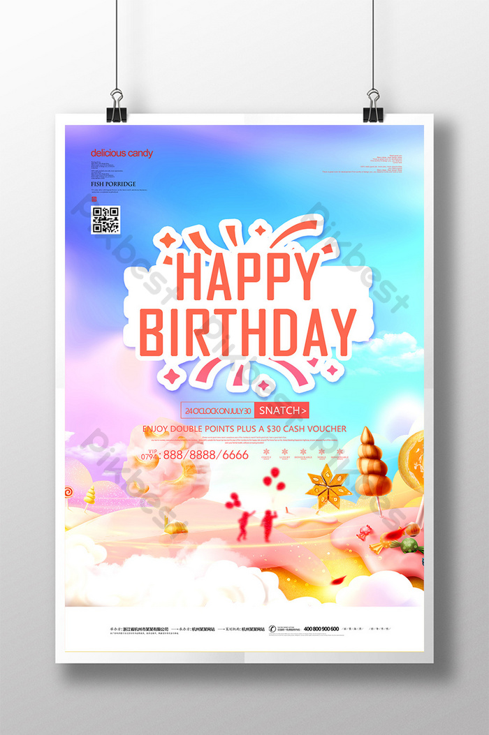Birthday Poster Design Template from pic.pikbest.com