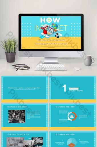 template ppt manual promosi kewirausahaan e commerce internet PowerPoint Templat PPTX