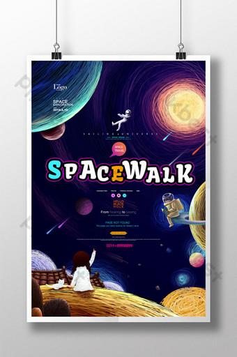 pintura de bobinas poster de tecnologia do universo de exploração espacial Modelo PSD