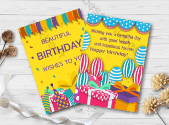 The Perfect Birthday Card Template for editing or printing