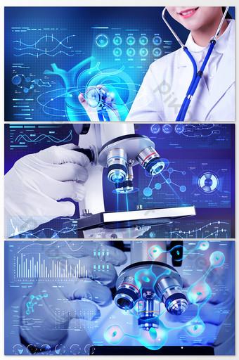 醫療衛生現代醫院實驗室科學家團隊攝影地圖 攝影圖 模板 JPG